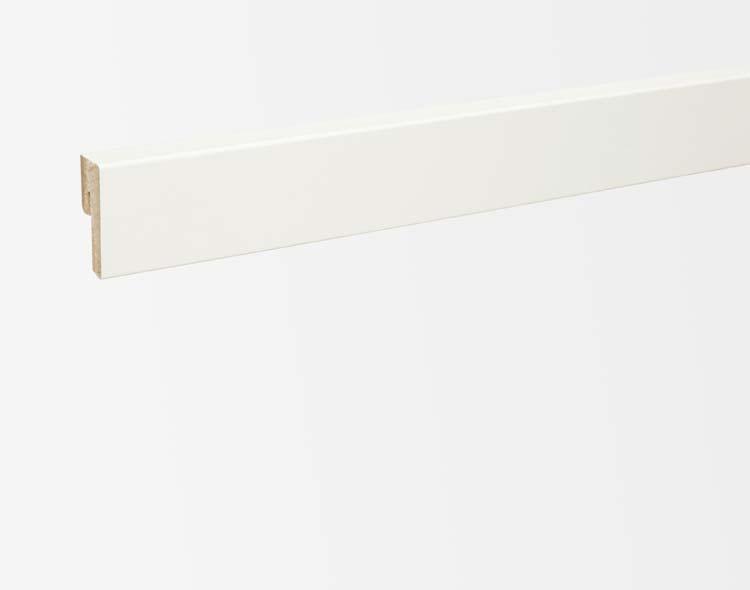 PARADOR SL3 Valkoinen jalkalista